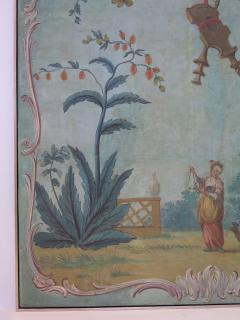 Set of Three Louis XV Painted Chinoiserie Canvas Panels - 1899528