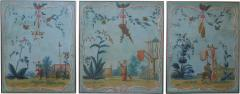 Set of Three Louis XV Painted Chinoiserie Canvas Panels - 1911897