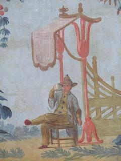 Set of Three Louis XV Painted Chinoiserie Canvas Panels - 1912709