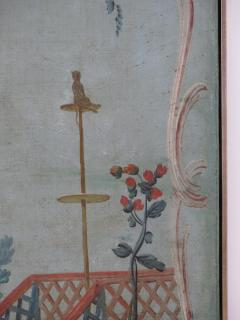 Set of Three Louis XV Painted Chinoiserie Canvas Panels - 1912710
