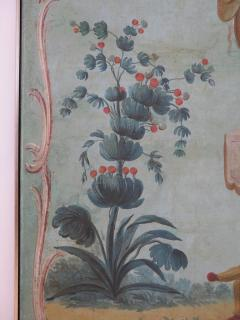 Set of Three Louis XV Painted Chinoiserie Canvas Panels - 1912714