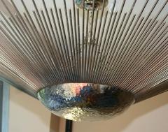 Set of Three Sunburst Nickel Plated Light Fixtures - 657375