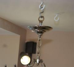 Set of Three Sunburst Nickel Plated Light Fixtures - 657380