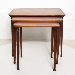 Set of Three Teak Nesting Tables Simple Modern MOBELINTARSIA Denmark 1960s - 2074864