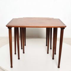Set of Three Teak Nesting Tables Simple Modern MOBELINTARSIA Denmark 1960s - 2074865
