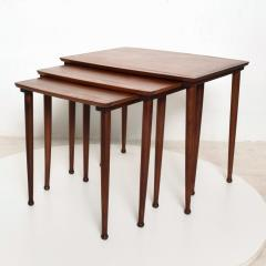 Set of Three Teak Nesting Tables Simple Modern MOBELINTARSIA Denmark 1960s - 2074868