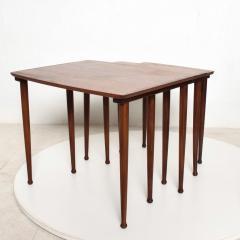 Set of Three Teak Nesting Tables Simple Modern MOBELINTARSIA Denmark 1960s - 2074869