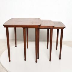 Set of Three Teak Nesting Tables Simple Modern MOBELINTARSIA Denmark 1960s - 2074870