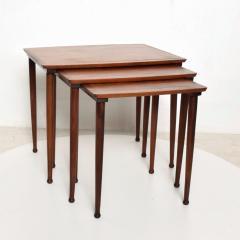Set of Three Teak Nesting Tables Simple Modern MOBELINTARSIA Denmark 1960s - 2074871
