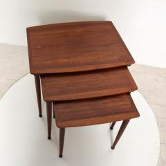 Set of Three Teak Nesting Tables Simple Modern MOBELINTARSIA Denmark 1960s - 2074872