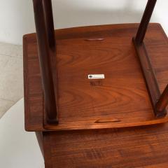 Set of Three Teak Nesting Tables Simple Modern MOBELINTARSIA Denmark 1960s - 2074873