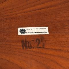 Set of Three Teak Nesting Tables Simple Modern MOBELINTARSIA Denmark 1960s - 2074874