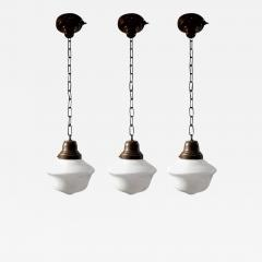 Vintage S Schoolhouse Pendant Lights - Set of three pendant lights