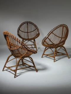 Set of Three Wicker Easy Chairs - 1319666