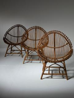 Set of Three Wicker Easy Chairs - 1319668