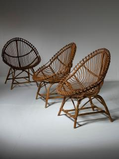 Set of Three Wicker Easy Chairs - 1319669
