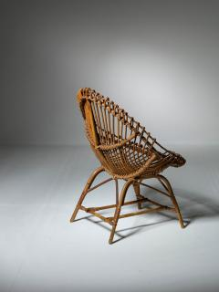 Set of Three Wicker Easy Chairs - 1319670