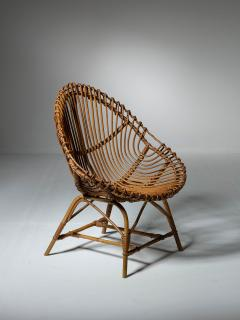 Set of Three Wicker Easy Chairs - 1319671