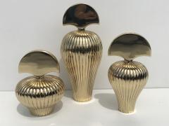 Set of Tree Brass Perfume Bottles - 550551