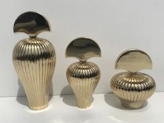 Set of Tree Brass Perfume Bottles - 550552