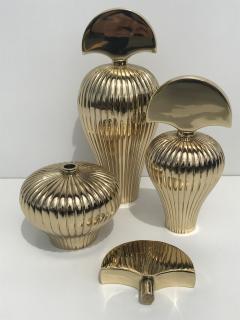 Set of Tree Brass Perfume Bottles - 550554