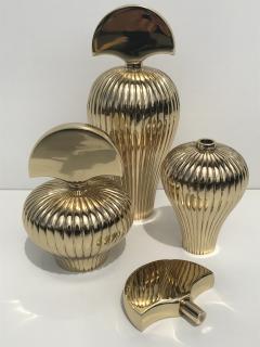 Set of Tree Brass Perfume Bottles - 550555