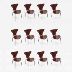 Set of Twelve 1960s Formiga Brazilian Jacaranda and Metal Dining Chairs - 499756