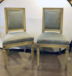 Set of Twelve Jansen Style Faux Linen Paint Decorated New Upholstery - 1240800