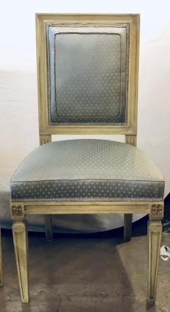 Set of Twelve Jansen Style Faux Linen Paint Decorated New Upholstery - 1240802
