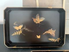 Set of Two Antique Japanese Lacquer Trays Edo Period - 1125990