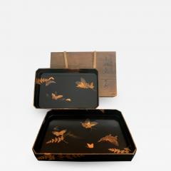 Set of Two Antique Japanese Lacquer Trays Edo Period - 1127131