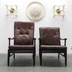 Set of Two Danish Leather Side Chairs - 643959