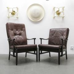 Set of Two Danish Leather Side Chairs - 643960