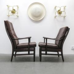 Set of Two Danish Leather Side Chairs - 643961