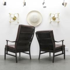 Set of Two Danish Leather Side Chairs - 643962