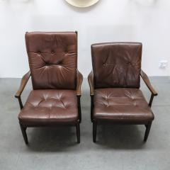 Set of Two Danish Leather Side Chairs - 643964