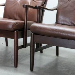 Set of Two Danish Leather Side Chairs - 643965