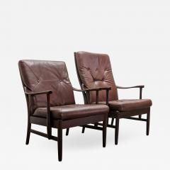 Set of Two Danish Leather Side Chairs - 661063