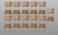 Set of eleven folding winter garden chairs circa 1900 - 1201392