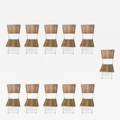 Set of eleven folding winter garden chairs circa 1900 - 1201539
