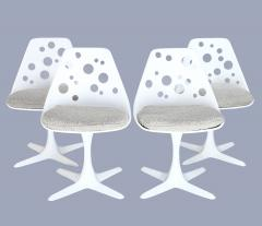 Set of four 1970s custom tulip chairs by Burke Texas  - 1000919