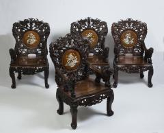 Set of four Indochinese armchairs circa 1930 - 917292