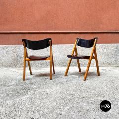 Set of oak chairs 1960s - 2135265