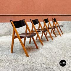 Set of oak chairs 1960s - 2135269