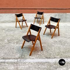 Set of oak chairs 1960s - 2135270