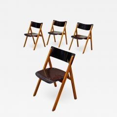 Set of oak chairs 1960s - 2139140