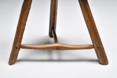 Set of rustic wabi sabi wooden milk stools 1850s - 2052304