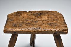 Set of rustic wabi sabi wooden milk stools 1850s - 2052305