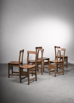 Set of six oak Arts Crafts dining chairs - 2128472