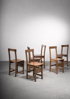Set of six oak Arts Crafts dining chairs - 2128473